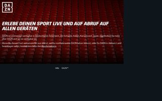 DAZN Webseiten Screenshot