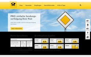 Deutsche Post Webseiten Screenshot