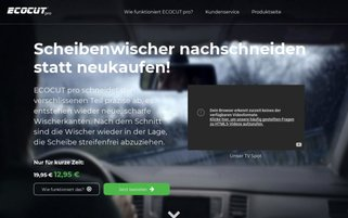EcoCut Pro Webseiten Screenshot