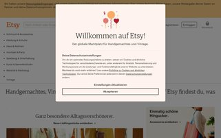 Etsy Webseiten Screenshot