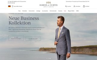 Hawes & Curtis Webseiten Screenshot
