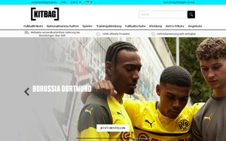 Kitbag Webseiten Screenshot