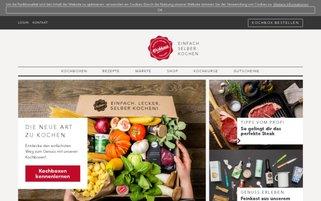 Kochhaus Webseiten Screenshot
