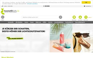 Kosmetikfuchs Webseiten Screenshot