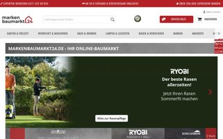 markenbaumarkt24 Webseiten Screenshot