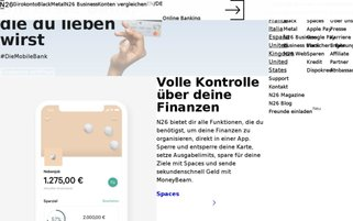 N26 Webseiten Screenshot