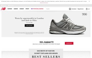 New Balance Webseiten Screenshot