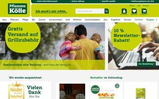 Pflanzen Kölle Webseiten Screenshot