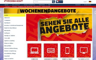 Proshop Webseiten Screenshot