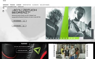 Reebok Webseiten Screenshot