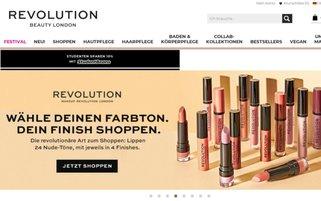 Revolution Beauty Webseiten Screenshot