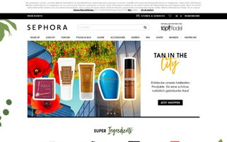 Sephora Webseiten Screenshot