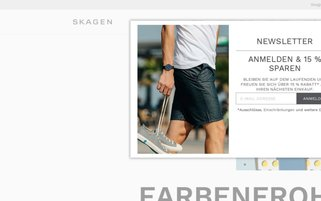 Skagen Webseiten Screenshot