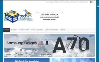 Techinthebasket Webseiten Screenshot