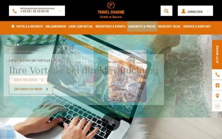 Travel Charme Webseiten Screenshot