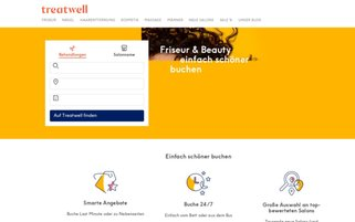 Treatwell Webseiten Screenshot