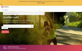 Udemy Webseiten Screenshot