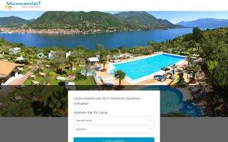 Vacanceselect Webseiten Screenshot