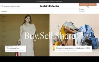 Vestiaire Collective Webseiten Screenshot