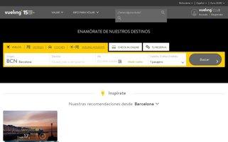 Vueling Webseiten Screenshot