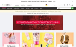 YesStyle Webseiten Screenshot