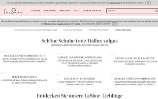 LaShoe Webseiten Screenshot