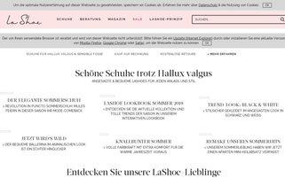 LaShoe Webseiten Screenshot