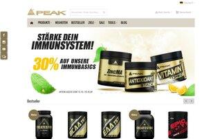 PEAK Webseiten Screenshot
