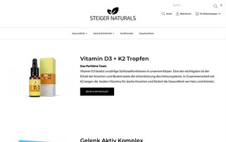 Steiger Naturals Webseiten Screenshot