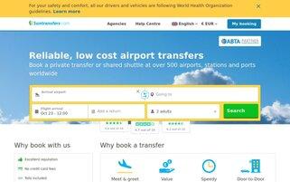 Suntransfers Webseiten Screenshot