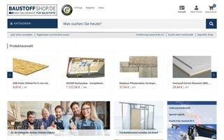Baustoffshop Webseiten Screenshot