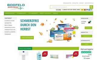 Bodfeld Apotheke Webseiten Screenshot