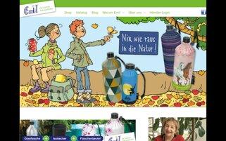 Emil die Flasche Webseiten Screenshot