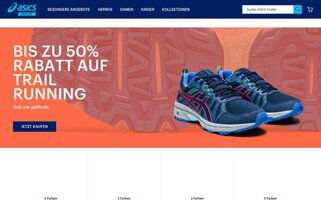 Asics Outlet Webseiten Screenshot