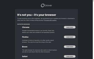 Grover Webseiten Screenshot