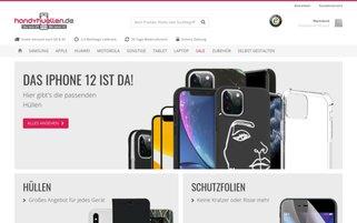 Handyhüllen Webseiten Screenshot