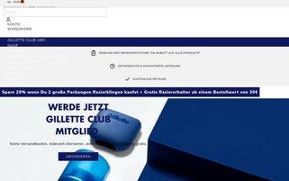 Gilette Webseiten Screenshot
