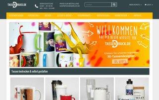 TassenDruck Webseiten Screenshot