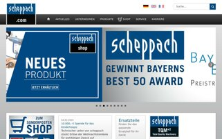 Scheppach Webseiten Screenshot