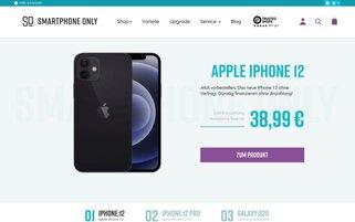 SMARTPHONE ONLY Webseiten Screenshot