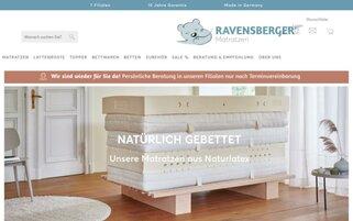 Ravensberger Matratzen Webseiten Screenshot