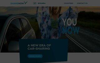 SHARE NOW Webseiten Screenshot