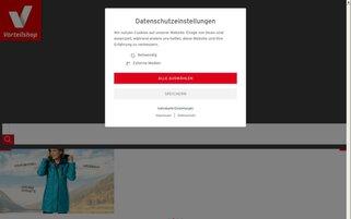 Vorteilshop Webseiten Screenshot