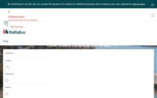 BlaBlaBus Webseiten Screenshot