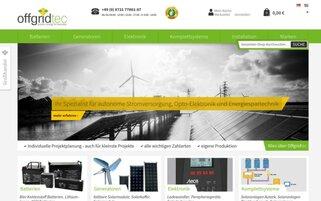 Offgridtec Webseiten Screenshot