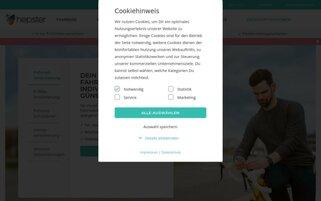 hepster Webseiten Screenshot