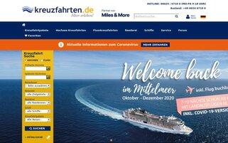 kreuzfahrten.de Webseiten Screenshot