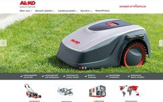 AL-KO Webseiten Screenshot