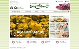 Blumenversand Edelweiss Webseiten Screenshot