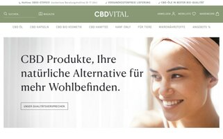 CBD-Vital Webseiten Screenshot
